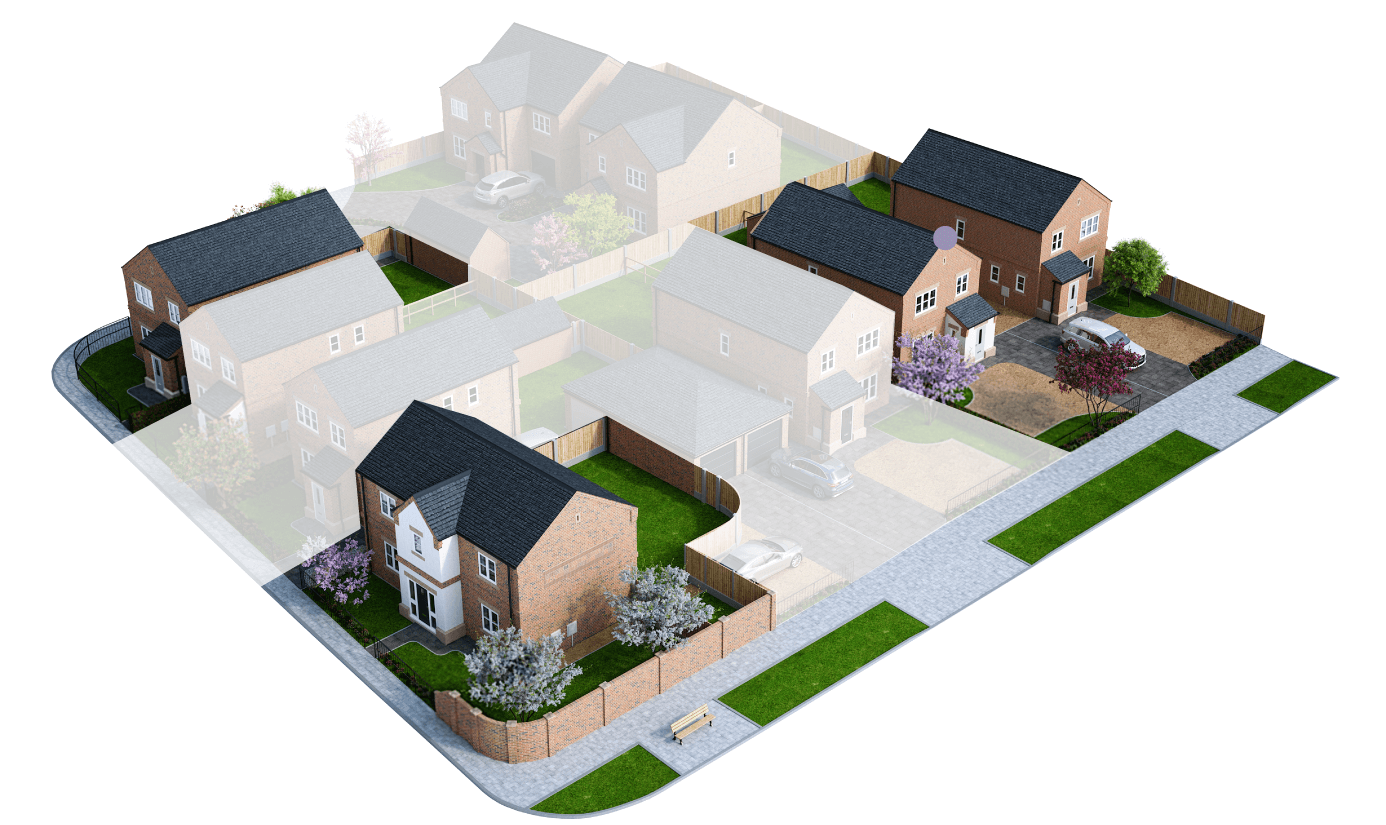 Finningley Court site plan – plot 2